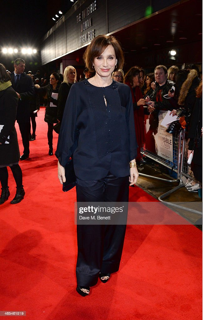 <a gi-track='captionPersonalityLinkClicked' href=/galleries/search?phrase=Kristin+Scott+Thomas&family=editorial&specificpeople=203290 ng-click='$event.stopPropagation()'>Kristin Scott Thomas</a> attends the UK Premiere of 'The Invisible Woman' at the ODEON Kensington on January 27, 2014 in London, England.