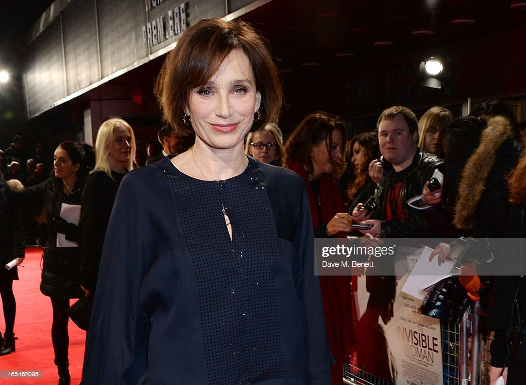 Kristin Scott Thomas attends the UK Premiere of 'The Invisible Woman' at the ODEON Kensington on January 27, 2014 in London, England.