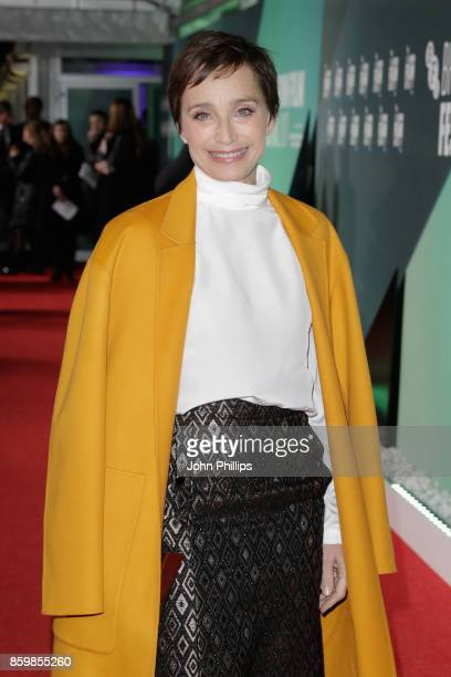 Kristin Scott Thomas attends the UK Premiere of 'The Party' during the 61st BFI London Film Festival on October 10 2017 in London England