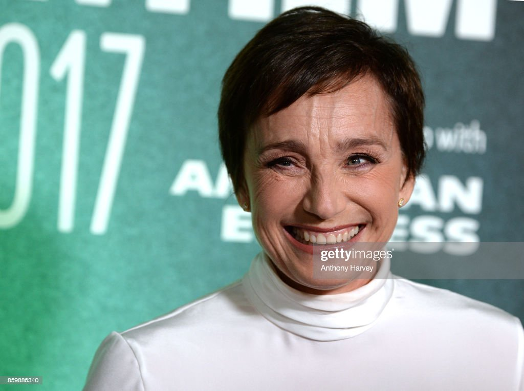 Kristin Scott Thomas attends the UK Premiere of 'The Party' during the 61st BFI London Film Festival on October 10, 2017 in London, England.