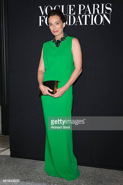 Kristin Scott Thomas attends the Vogue Foundation Gala as part of Paris Fashion Week at Palais Galliera on July 9 2014 in Paris France