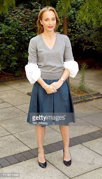 Kristin Scott Thomas during 'As You Desire Me' Photocall at The Playhouse in London Great Britain