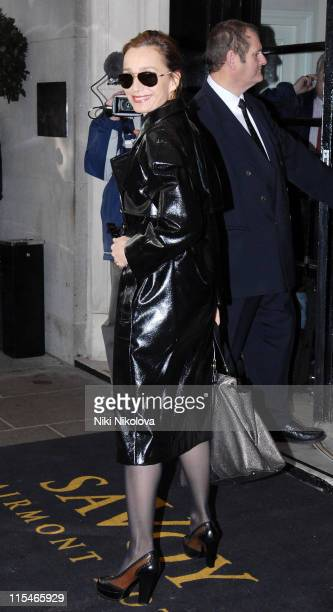 Kristin Scott Thomas during Evening Standard Theatre Awards Arrivals at The Savoy in London Great Britain