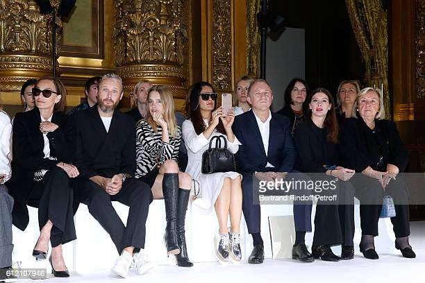 Kristin Scott Thomas husband of Stella Alasdhair Willis Natalia Vodianova Salma Hayek her husband CEO of Kering Group FrancoisHenri Pinault...
