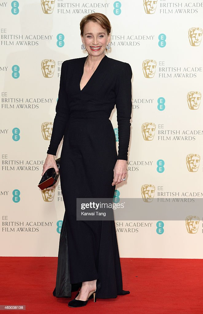 Kristin Scott Thomas poses in the winners room at the EE British Academy Film Awards at The Royal Opera House on February 8, 2015 in London, England.