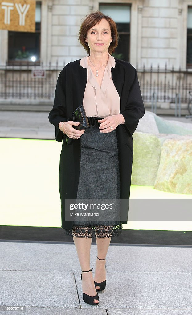 Kristin Scott-Thomas attends the preview party for The Royal Academy Of Arts Summer Exhibition 2013 at Royal Academy of Arts on June 5, 2013 in London, England.
