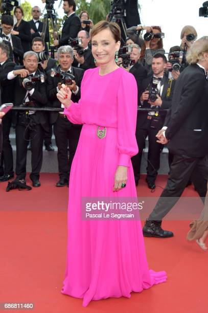 Kristin ScottThomas attends the 'The Killing Of A Sacred Deer' screening during the 70th annual Cannes Film Festival at Palais des Festivals on May...