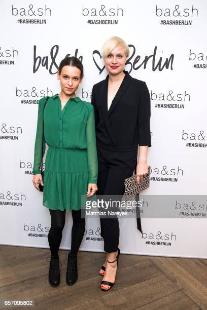 Kristin Suckow and Sandra Maren Schneide attend the BaSh store opening on March 23 2017 in Berlin Germany