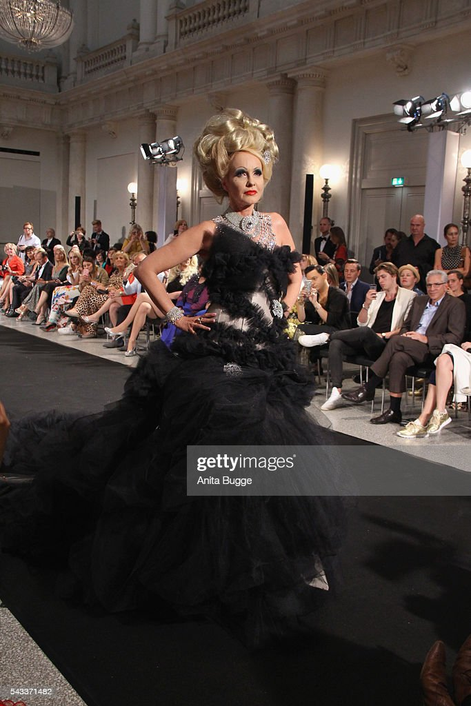<a gi-track='captionPersonalityLinkClicked' href=/galleries/search?phrase=Kristina+Bach&family=editorial&specificpeople=811644 ng-click='$event.stopPropagation()'>Kristina Bach</a> walks the runway during the fashion staging of the fairy tale 'Die zertanzten Schuhe' by Harald Gloeoeckler at Hotel de Rome on June 27, 2016 in Berlin, Germany.