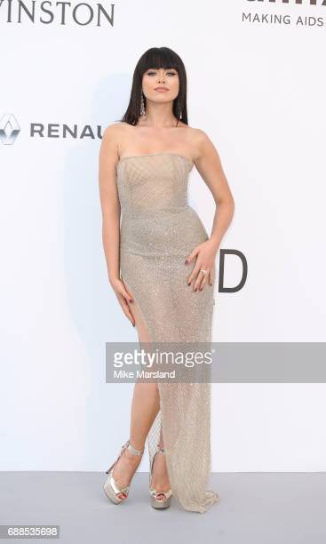 Kristina Bazan arrives at the amfAR Gala Cannes 2017 at Hotel du CapEdenRoc on May 25 2017 in Cap d'Antibes France