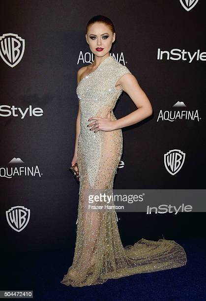 Kristina Bazan attends InStyle and Warner Bros 73rd Annual Golden Globe Awards PostParty at The Beverly Hilton Hotel on January 10 2016 in Beverly...