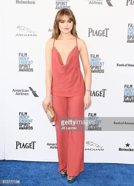 Kristina Bazan attends the 2016 Film Independent Spirit Awards on February 27 2016 in Santa Monica California