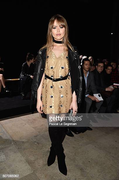 Kristina Bazan attends the Viktor Rolf Spring Summer 2016 show as part of Paris Fashion Week on January 27 2016 in Paris France