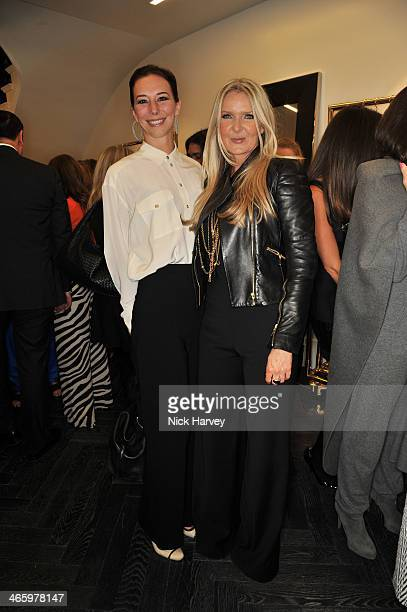 Kristina Blahnik and Amanda Wakeley attend the opening of the new Amanda Wakeley store on January 30 2014 in London England