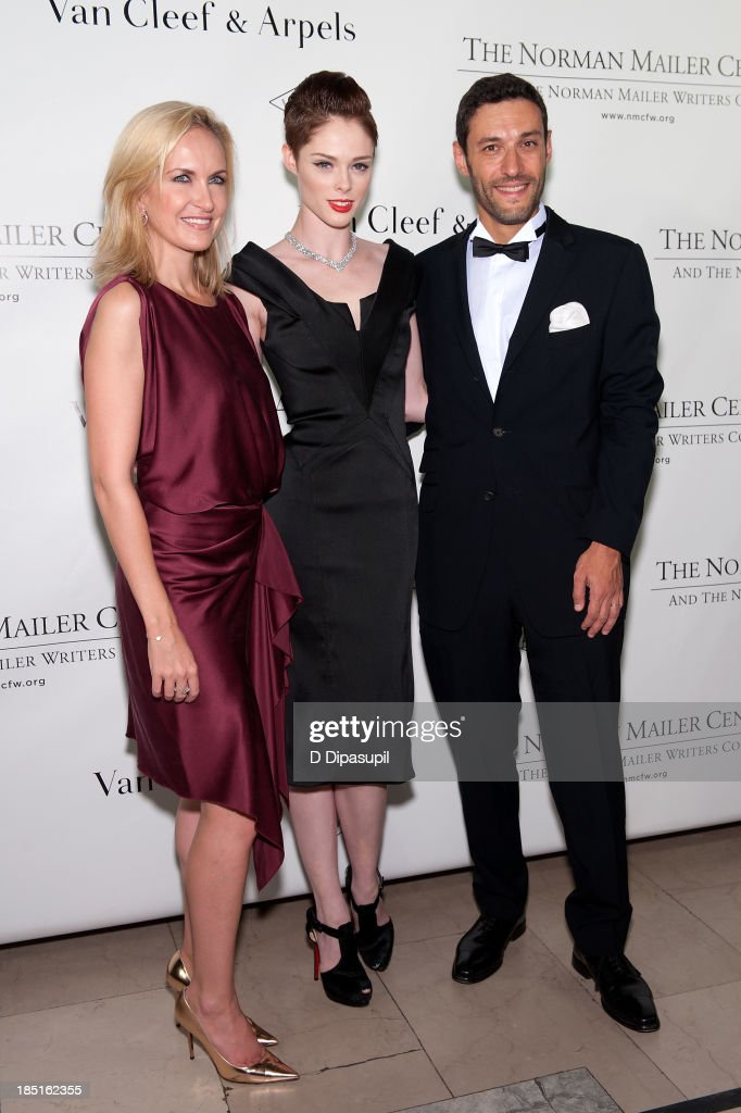 Kristina Buckley, <a gi-track='captionPersonalityLinkClicked' href=/galleries/search?phrase=Coco+Rocha&family=editorial&specificpeople=4172514 ng-click='$event.stopPropagation()'>Coco Rocha</a>, and Alain Bernard attend the 2013 Norman Mailer Center gala at the New York Public Library on October 17, 2013 in New York City.