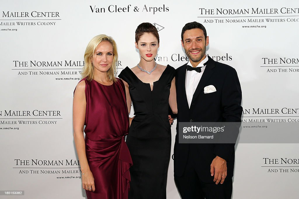 Kristina Buckley, Vice President of Communications Van Cleef & Arpels, <a gi-track='captionPersonalityLinkClicked' href=/galleries/search?phrase=Coco+Rocha&family=editorial&specificpeople=4172514 ng-click='$event.stopPropagation()'>Coco Rocha</a> and Alain Bernard, Van Cleef & Arpels President and CEO of the Americas, attend The Fifth Annual Norman Mailer Center Benefit Gala presented by Van Cleef & Arpels at The New York Public Library on October 17, 2013 in New York City.