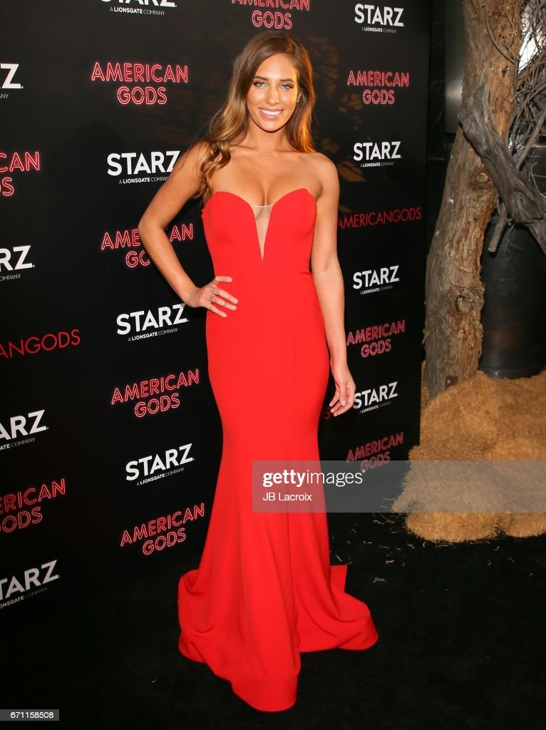 Kristina Colonna attends the premiere Of Starz's 'American Gods' on April 20, 2017 in Hollywood, California.