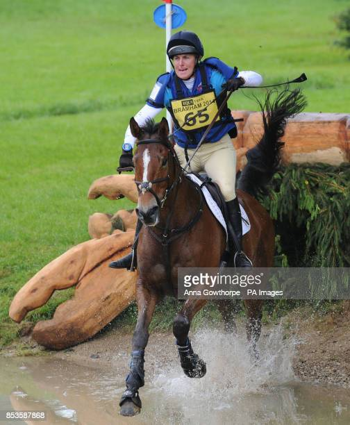 Kristina Cook riding Star Witness competes in the CCI3* cross country event during the Bramham International Horse Trials at Bramham Park West...