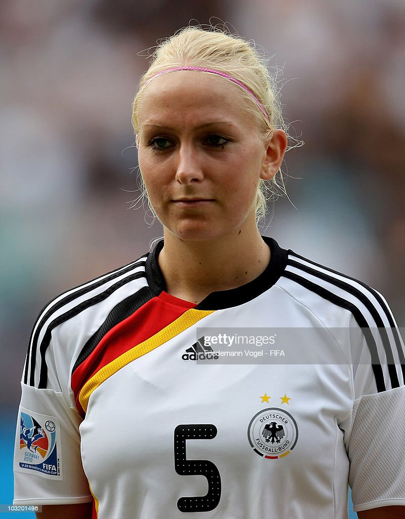 Kristina Gessat of Germany poses before the FIFA U20 Women's World Cup Final match between Germany and Nigeria at the FIFA U-20 Women's World Cup stadium on August 1, 2010 in Bielefeld, Germany.