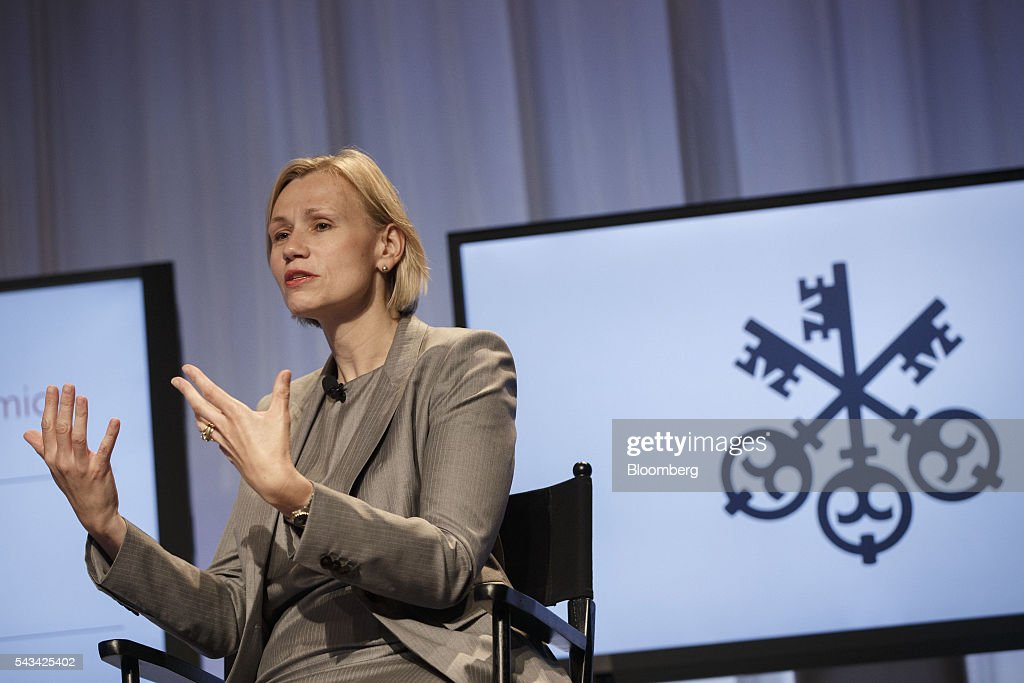 Kristina Hooper, head of U.S. investment strategies at Allianz Global Investors, speaks during the UBS CIO Global Forum at the Beverly Wilshire Hotel in Beverly Hills, California, U.S., on Tuesday, June 28, 2016. The forum sources experts from all regions of the world to address regional issues affecting global markets. Photographer: Patrick T. Fallon/Bloomberg via Getty Images