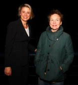Kristina Keneally and Laurie Anderson pose during the official opening party of the Vivid Sydney Festival at the Overseas Passenger Terminal on May...
