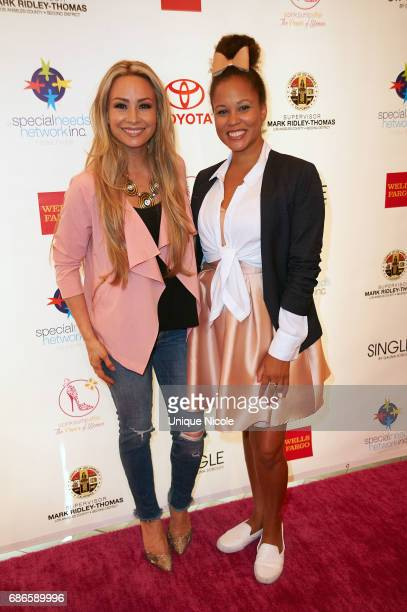 Kristina Lopez TLopez and Breegan Jane attend the Special Needs Network's Pink Pump Affair Gala And Fundraiser at Four Seasons Hotel Los Angeles at...