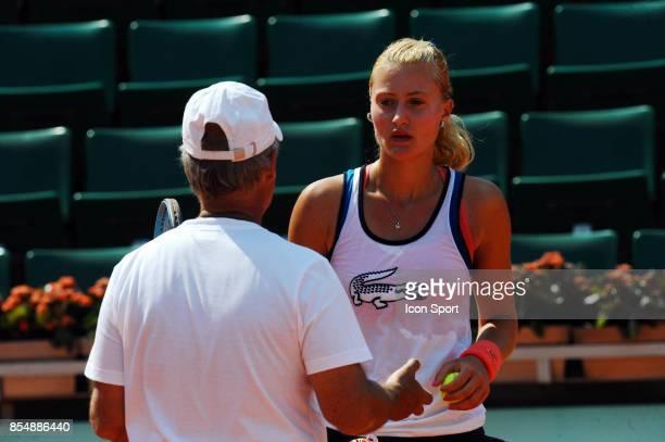 Kristina MLADENOVIC et son coach Roland Garros 2010