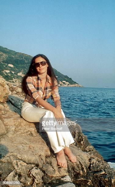 'Kristina Nel neben den Dreharbeiten zum Kinofilm ''Die blutigen Geier von Alaska'' am in Dubrovnik Jugoslawien '