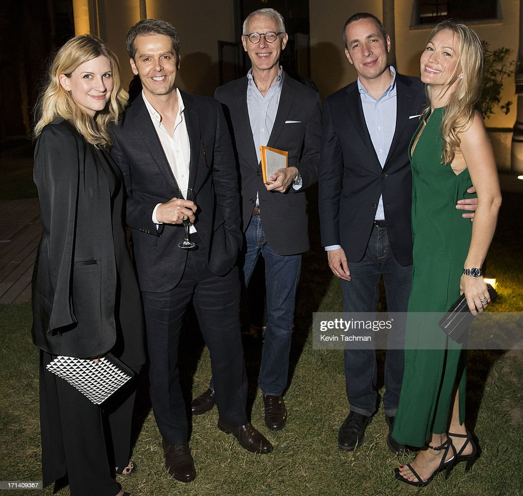 Kristina O'Neill, David Farber, Guy Trebay, Dan Peres, Sarah Wynter attend the dinner to celebrate Italo Zucchelli's ten years as Calvin Klein Collection's mens creative director on June 23, 2013 in Milan, Italy.