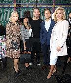 Kristina Rihanoff Aljaì Skorjanec Janette Manrara Rachel Riley and Pasha Kovalev attend the Julien Macdonald show during London Fashion Week...