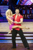 Kristina Rihanoff and Ben Cohen attend the launch photocall for the Strictly Come Dancing live tour 2014 at NIA Arena on January 16 2014 in...