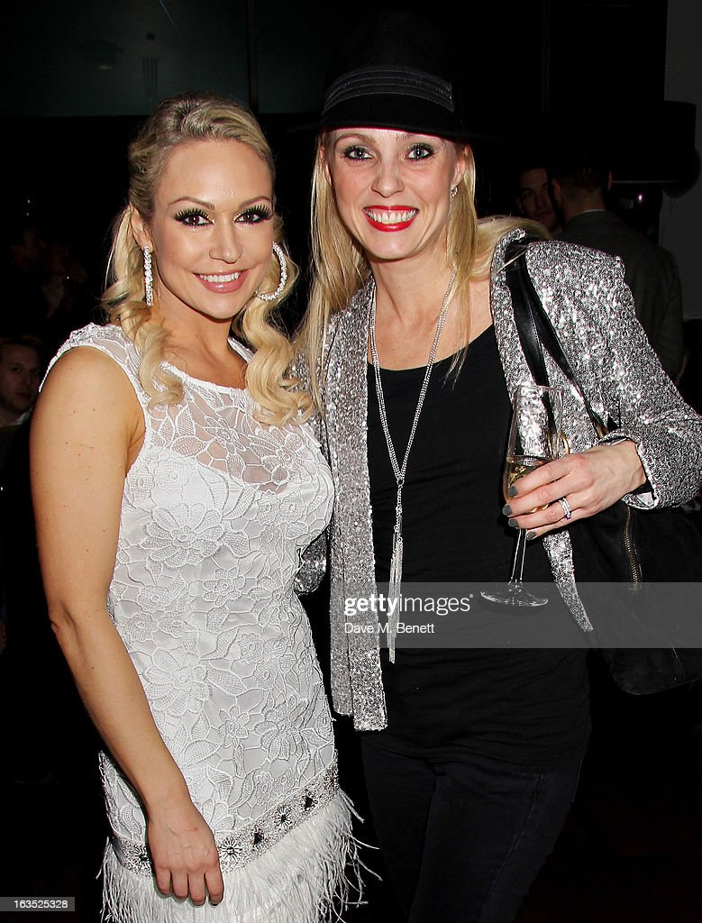 Kristina Rihanoff (L) and Camilla Dallerup attend an after party celebrating the press night performance of 'Burn The Floor' at the Trafalgar Hotel on March 11, 2013 in London, England.