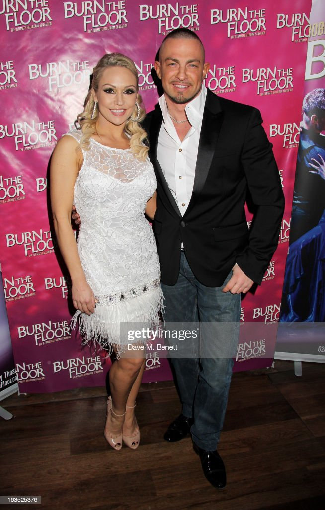 Kristina Rihanoff (L) and Robin Windsor attend an after party celebrating the press night performance of 'Burn The Floor' at the Trafalgar Hotel on March 11, 2013 in London, England.