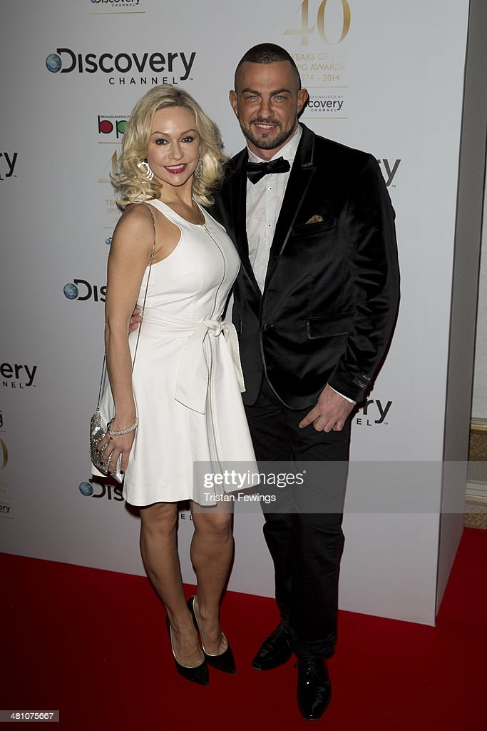 Kristina Rihanoff and Robin Windsor attend the Broadcasting Press Guild Awards sponsored by The Discovery Channel at Theatre Royal on March 28, 2014 in London, England.