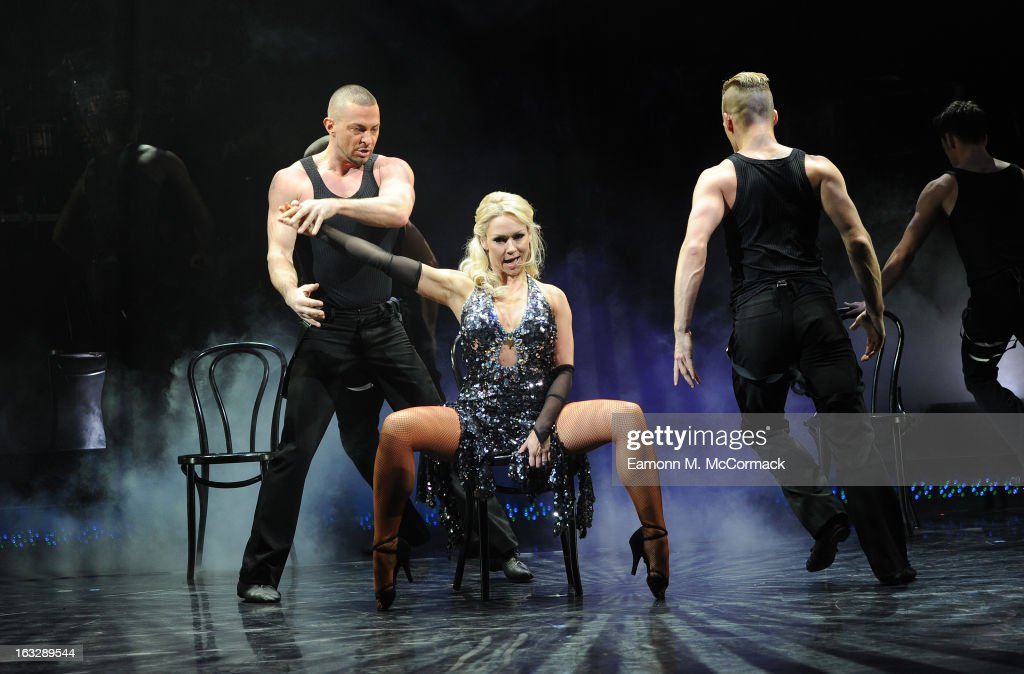 <a gi-track='captionPersonalityLinkClicked' href=/galleries/search?phrase=Kristina+Rihanoff&family=editorial&specificpeople=5584816 ng-click='$event.stopPropagation()'>Kristina Rihanoff</a> and Robin Windsor perform during a photocall for 'Burn The Floor' at Shaftesbury Theatre on March 7, 2013 in London, England.
