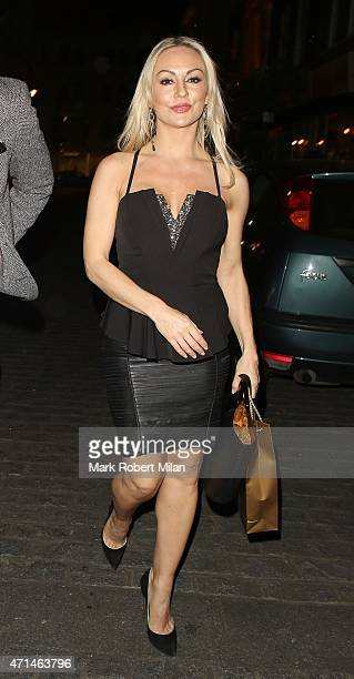 Kristina Rihanoff attending the Hot Gossip launch party at Gigi's on April 28 2015 in London England