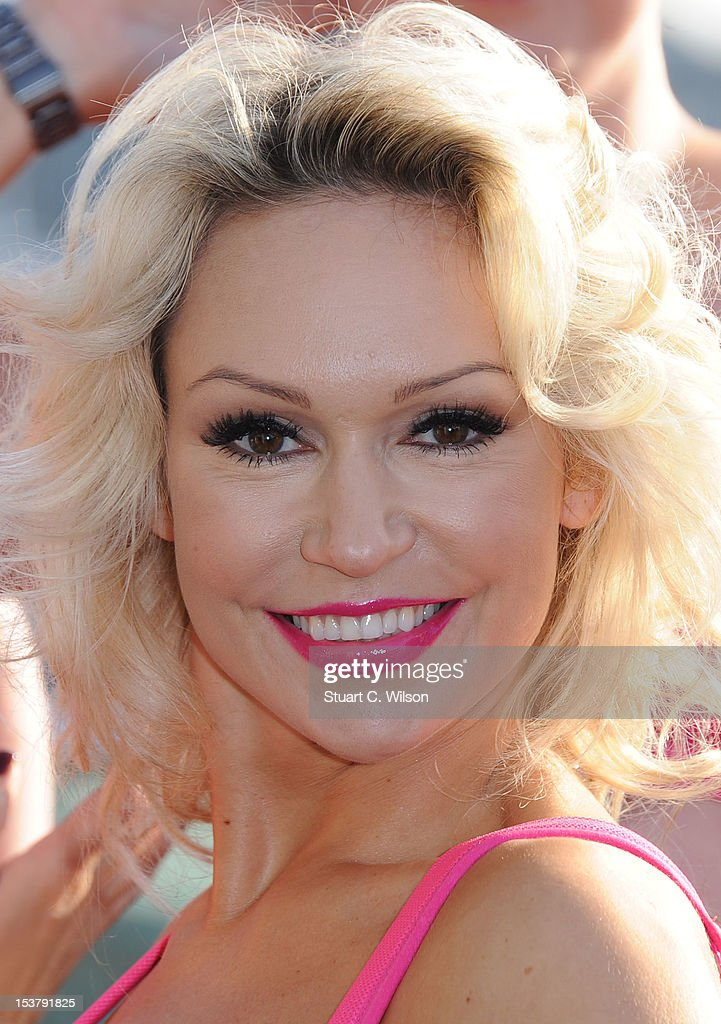 Kristina Rihanoff attends a photocall to launch a Breast Cancer Awareness sports bra on October 9, 2012 in London, England.