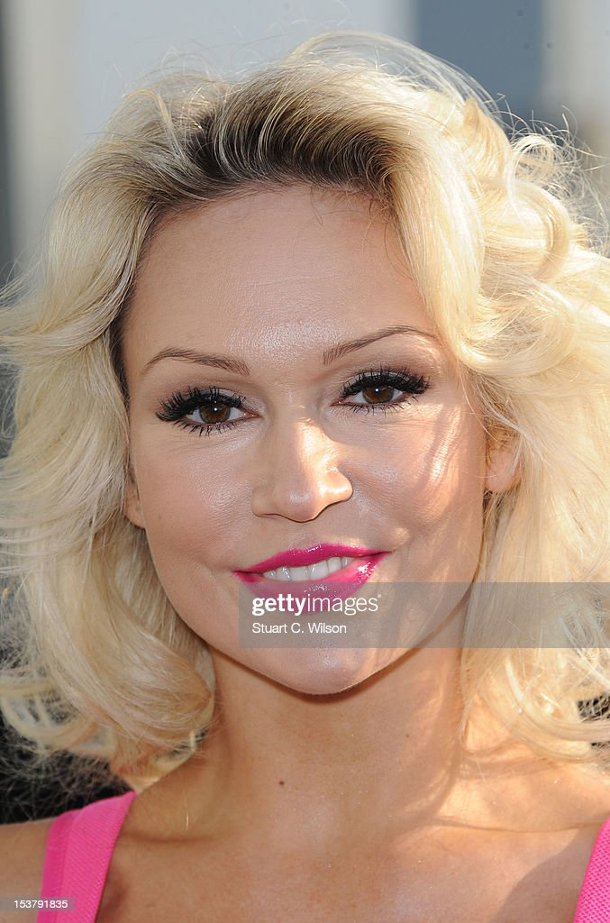 <a gi-track='captionPersonalityLinkClicked' href=/galleries/search?phrase=Kristina+Rihanoff&family=editorial&specificpeople=5584816 ng-click='$event.stopPropagation()'>Kristina Rihanoff</a> attends a photocall to launch a Breast Cancer Awareness sports bra on October 9, 2012 in London, England.