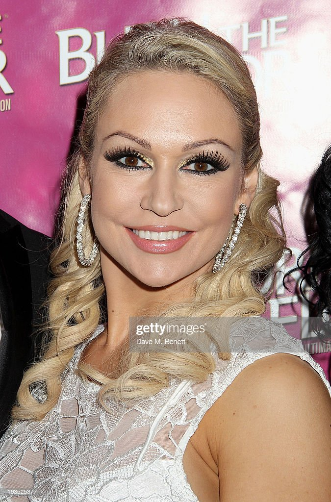 Kristina Rihanoff attends an after party celebrating the press night performance of 'Burn The Floor' at the Trafalgar Hotel on March 11, 2013 in London, England.