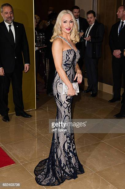 Kristina Rihanoff attends The London Critic's Circle Film Awards at the May Fair Hotel on January 22 2017 in London United Kingdom