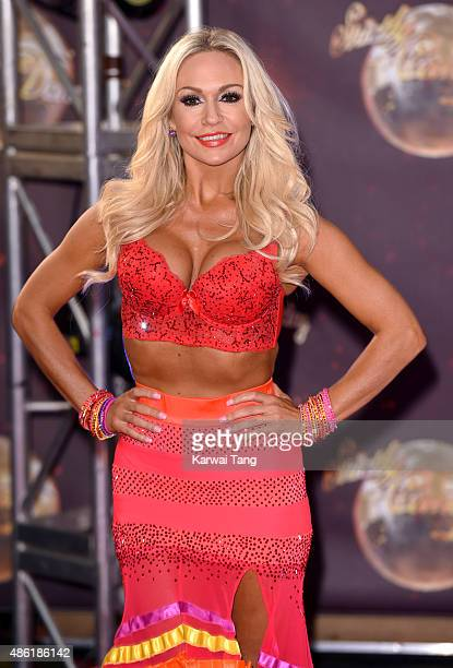 Kristina Rihanoff attends the red carpet launch of 'Strictly Come Dancing 2015' at Elstree Studios on September 1 2015 in Borehamwood England