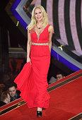 Kristina Rihanoff enters the Celebrity Big Brother House at Elstree Studios on January 5 2016 in Borehamwood England