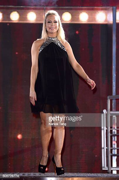 Kristina Rihanoff is the 3rd celebrity evicted from the Big Brother house at Elstree Studios on January 19 2016 in Borehamwood England