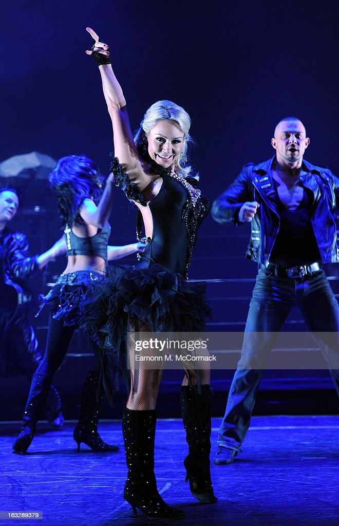 <a gi-track='captionPersonalityLinkClicked' href=/galleries/search?phrase=Kristina+Rihanoff&family=editorial&specificpeople=5584816 ng-click='$event.stopPropagation()'>Kristina Rihanoff</a> performs during a photocall for 'Burn The Floor' at Shaftesbury Theatre on March 7, 2013 in London, England.
