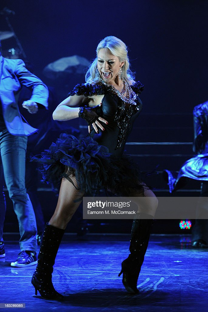 Kristina Rihanoff performs during a photocall for 'Burn The Floor' at Shaftesbury Theatre on March 7, 2013 in London, England.