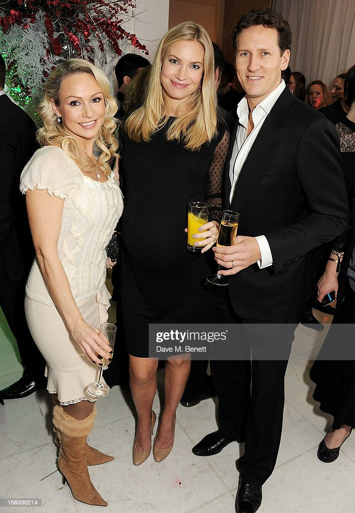Kristina Rihanoff, Zoe Cole and Brendan Cole attend the English National Ballet Christmas Party at St Martins Lane Hotel on December 13, 2012 in London, England.