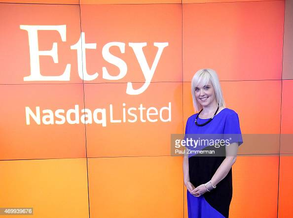 Kristina Salen Etsy's CFO rings the Nasdaq Opening Bell in Celebration of IPO at Nasdaq on April 16 2015 in New York City