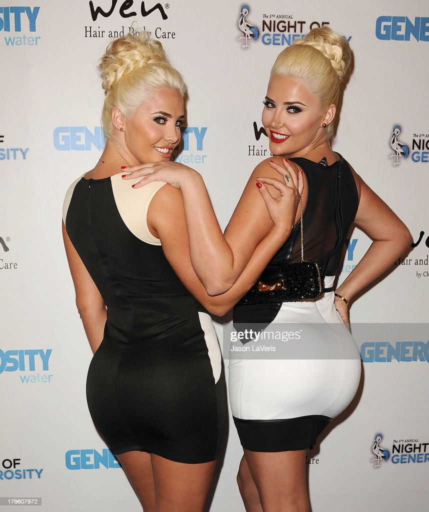 Kristina Shannon and Karissa Shannon attend Generosity Water's 5th annual Night of Generosity benefit at Beverly Hills Hotel on September 6, 2013 in Beverly Hills, California.