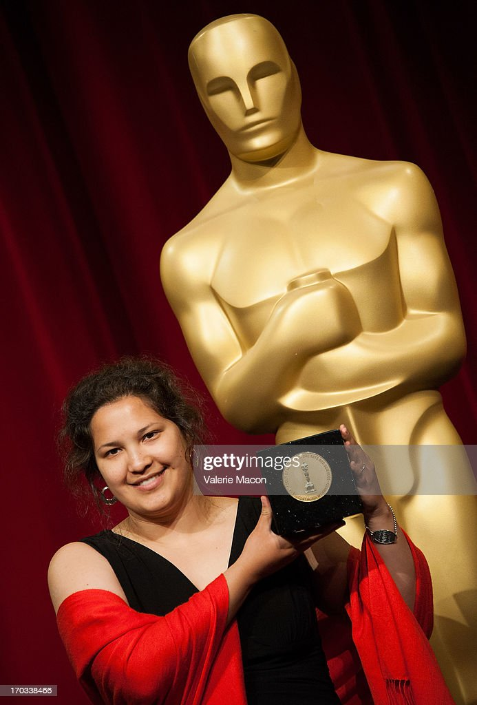 Kristina Yee attends The Academy Of Motion Picture Arts And Sciences' 40th Annual Student Academy Awards Ceremony at AMPAS Samuel Goldwyn Theater on...