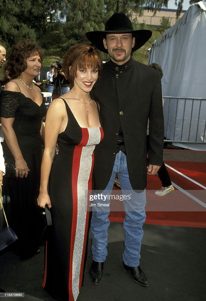 Kristine Donohue And <a gi-track='captionPersonalityLinkClicked' href=/galleries/search?phrase=Tim+McGraw&family=editorial&specificpeople=202845 ng-click='$event.stopPropagation()'>Tim McGraw</a> during 30th Annual Academy of Country Music Awards at Universal Amphitheatre in Universal City, California, United States.